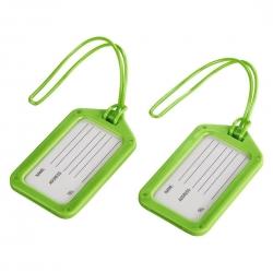 Reisezubehör - Gepäckanhänger 2er-Set, grün