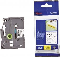 TZe-S231 Schriftbandkassette - laminiert, 12 mm x 8 m, schwarz auf weiß