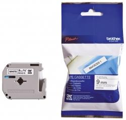 M-Schriftbandkassetten, unlaminiert Größe: 9 mm x 4 m (B x L) schwarz auf weiß