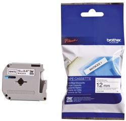 M-Schriftbandkassetten, unlaminiert Größe: 12 mm x 4 m (B x L) schwarz auf weiß