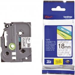TZe-141 Schriftbandkassette - laminiert, 18 mm x 8 m, schwarz auf farblos
