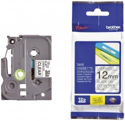 TZe-131 Schriftbandkassette - laminiert, 12 mm x 8 m, schwarz auf farblos