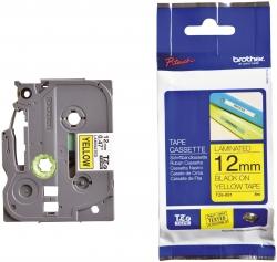 TZe-631 Schriftbandkassette - laminiert, 12 mm x 8 m, schwarz auf gelb