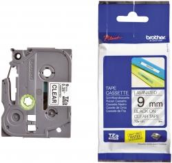 TZe-121 Schriftbandkassette - laminiert, 9 mm x 8 m, schwarz auf farblos