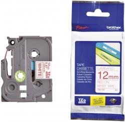 TZe-232 Schriftbandkassette - laminiert, 12 mm x 8 m, rot auf weiß