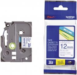 TZe-233 Schriftbandkassette - laminiert, 12 mm x 8 m, blau auf weiß