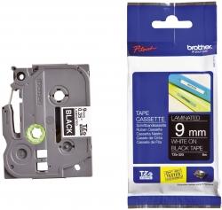 TZe-325 Schriftbandkassette - laminiert, 9 mm x 8 m, weiß auf schwarz