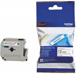 M-Schriftbandkassetten, unlaminiert Größe: 12 mm x 8 m (B x L) schwarz auf weiß