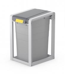 Mülltrennsystem ProfiLine Öko XL - 38 l, grau