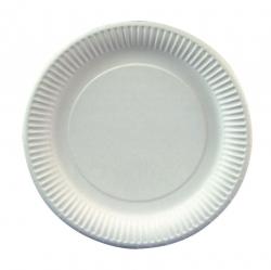 Einweg-Geschirr - Pappe, Teller, Ø 23 cm, weiß, 25 Stück
