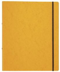 Ringbuch Pressspan - A4, 2-Ring, Ring-Ø 16mm, Gummizug, gelb