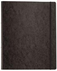 Ringbuch Pressspan - A4, 2-Ring, Ring-Ø 16mm, Gummizug, schwarz