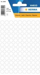 1840 Vielzwecketiketten - weiß, Ø 8 mm, matt, 540 Stück
