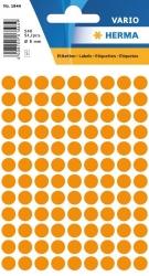 1844 Vielzwecketiketten - orange, Ø 8 mm, matt, 540 Stück