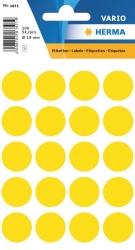 1871 Vielzwecketiketten - gelb, Ø 19 mm, matt, 100 Stück