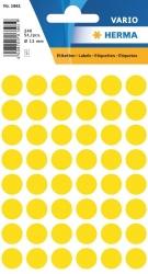 1861 Vielzwecketiketten - gelb, Ø 13 mm, matt, 240 Stück