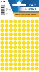 1841 Vielzwecketiketten - gelb, Ø 8 mm, matt, 540 Stück
