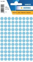 1843 Vielzwecketiketten - blau, Ø 8 mm, matt, 540 Stück