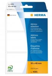 4301 Adress-Etiketten - 95 x 48 mm, selbstklebend, 250 Stück
