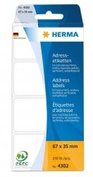 4302 Adress-Etiketten - 67 x 35 mm, selbstklebend, 250 Stück