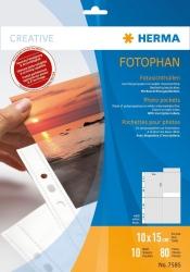 7585 Fotosichthüllen 100 x 150 mm hoch weiß 10 Hüllen