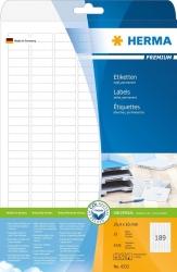 4333 Etiketten Premium A4, weiß 25,4x10 mm Papier matt 4725 St.