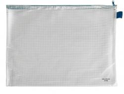 Reißverschlusstaschen - transparent/blau, A3, 445 x 320 mm