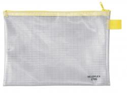 Reißverschlusstaschen - transparent/gelb, A5, 250 x 180 mm