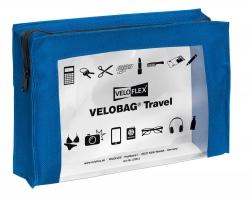 Reißverschlusstasche VELOCOLOR® Travel - PVC, blau, 230 x 160 mm