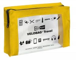 Reißverschlusstasche VELOCOLOR® Travel - PVC, gelb, 230 x 160 mm