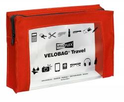 Reißverschlusstasche VELOCOLOR® Travel - PVC, rot, 230 x 160 mm