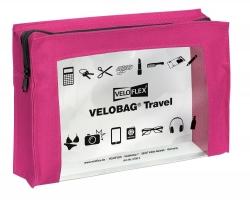Reißverschlusstasche VELOCOLOR® Travel - PVC, pink, 230 x 160 mm