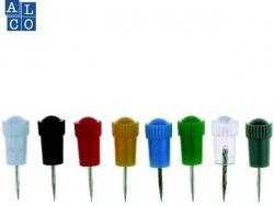 Stoßnadeln, farbig sortiert, Nadellänge 10 mm