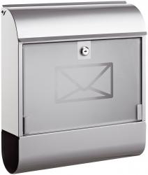 Briefkasten 8608 - mit Zeitungsbox, silber
