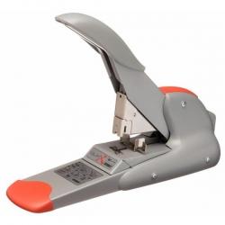 Blockheftgerät DUAX®, Stahl, 170 Blatt, Flachheftung, silber/orange