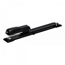Langarm-Heftgerät E15, Kunststoff/Metall, 20 Blatt,  schwarz