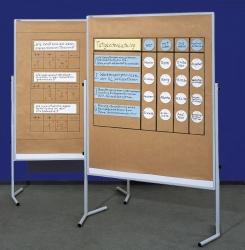 Moderationstafel ECO, 120 x 150 cm, weiß/kartonkaschiert, einteilig