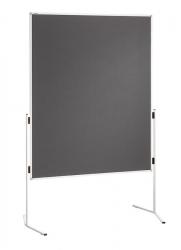 Moderationstafel ECO, 120 x 150 cm, grau/Filz, einteilig