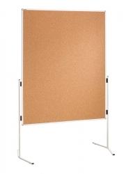 Moderationstafel ECO, 120 x 150 cm, braun/Kork, einteilig
