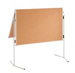 Moderationstafel ECO, 120 x 150 cm, braun/Kork, klappbar