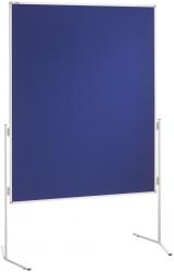 Moderationstafel ECO, 120 x 150 cm, blau/Filz, einteilig