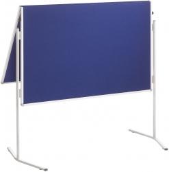 Moderationstafel ECO, 120 x 150 cm, blau/Filz, blau/Filz, klappbar