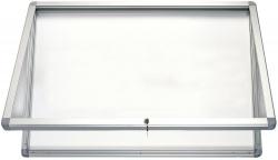 Schaukasten ECO Outdoor - 4x A4, 43 x 70,4 x 4,5 cm, weiß, magnethaftend
