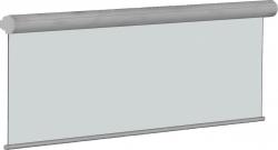 Rolloleinwand PRO, 172 x 172 cm