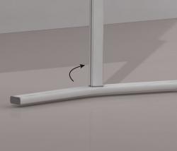 Standbeine für Tafel PRO - 100 cm hoch, Standardfuß, 4 x 61 cm