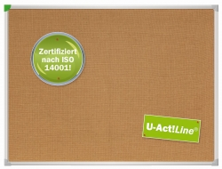 Textiltafel U-Act! Line, 120 x 80 cm, braun