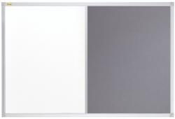 Kombitafel - 90 x 60 cm, Schreib- und Filztafel, grau