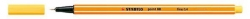 Fineliner point 88®, 0,4 mm, gelb