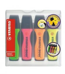 Premium-Textmarker BOSS® EXECUTIVE, Etui mit 4 Stiften