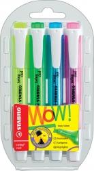 Textmarker swing® cool - Kunststoffetui mit 4 Stiften